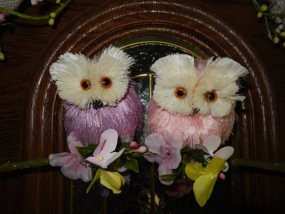 16 flor de buho primavera pascua electrodomsticos celebracin de vacaciones corona puerta prpura arpillera rosa pastel - Electrodomesticos Pascua