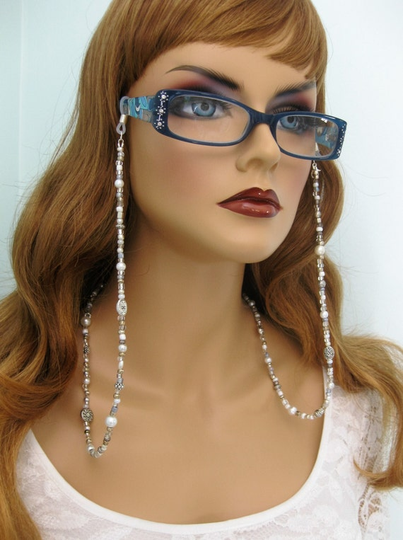 Silver Beaded Eyeglass Chain Eyeglass Chains Glasses Chain