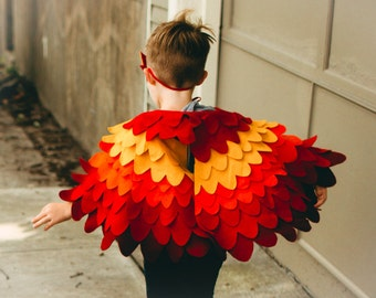Fancy dress up Wing Cape Bird Wings for Children Halloween Costume for Toddlers Boys and Girls,