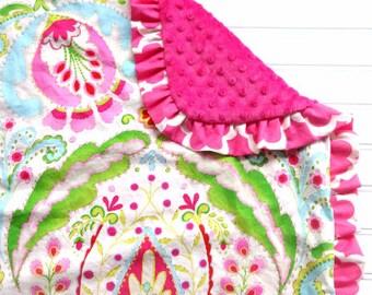 Pink Minky Blanket Kumari Garden