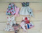Lot of 4 set Neo Blythe Dresses and Socks