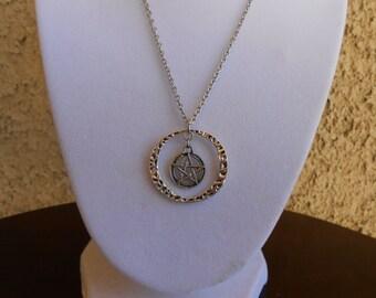 Pentagram Ring Necklace