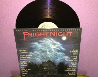 Rare Vinyl Record Fright Night Original Soundtrack LP 1985 Vampire Horror