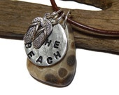Petoskey Stone Beach stone Adjustable necklace The Beach, flip flops Lake Michigan, up north, Summertime in Northern Michigan, Lake Michigan