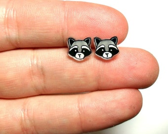 Lil' Raccoons, Stud Earrings