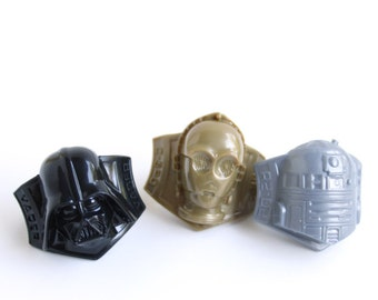 Star Wars Cupcake Toppers (set of 12) Darth Vader, C3PO, R2D2 Cupcake Rings