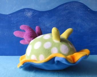 Little Sea Slug, Polka Dot Nudibranch Plush, Sea Creature Plush, Nudibranch, Slug