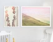 "California Dreamin Beach Photography // Ocean Beach San Francisco Print // Purple, Pink Yellow Palette // Modern Art // ""Sunday Sunset"""