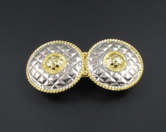 Accessocraft Mixed Metal Belt Buckle, Accessocraft Buckles, Gold and Silver Buckles, Medallion Belt Buckles, Gold Buckle