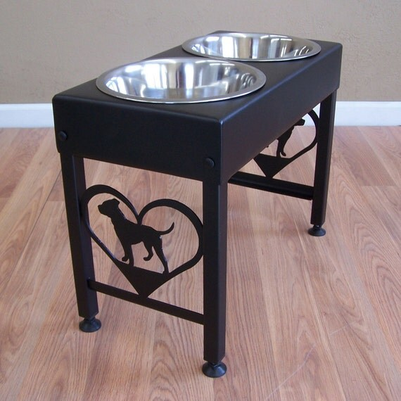 Pit Bull Terrier Elevated Dog Feeder Floor Stand Bowl Holder - photo#35
