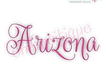 Arizona Fancy Calligraphy Script 3- Instant Download Machine embroidery design