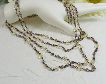 Extra Long Necklace Beaded Chain Fall Colors