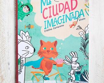 book and Colorbook Mi ciudad imaginada