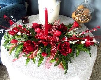 Valentine Centerpiece / Valentine Floral Tabletop
