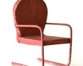 Vintage Salesman Sample Metal Patio Chair Dollhouse Furniture