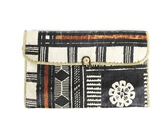 African Clutch Purse Vintage Tribal Print Clutch Large Straw Clutch Envelope Clutch Ethnic Purse Floral Vegan Evening Bag