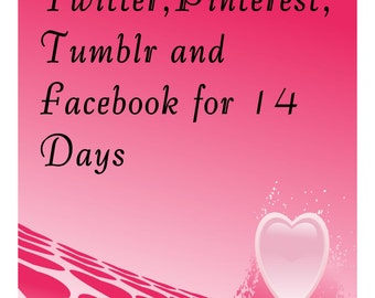 Twitter,Pinterest and Tumblr for 14 Days-I will pin 4-100 items to My Pinterest