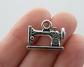 6 Sewing machine charms antique silver tone SN53