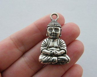 2 Buddha pendants antique silver R51