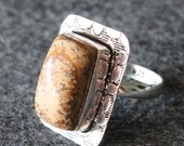Vintage Gemstone Colored Silver 925 Ring