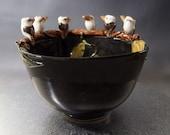 Ceramic kookaburra keepsake or trinket dish hand crafted one of a kind bird figurine Anita Reay AnitaReayArt