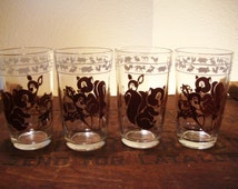 Deer and Squirrel Swanky Swig Drinking Glasses - Jelly Drinking Glasses