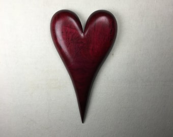 Wood heart best ever red personalized romantic Anniversary present