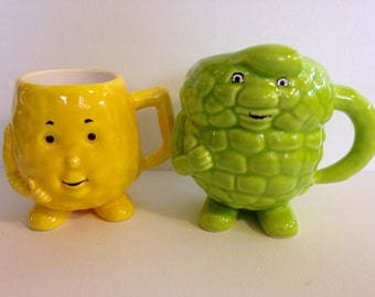 Vintage anthropomorphic mugs