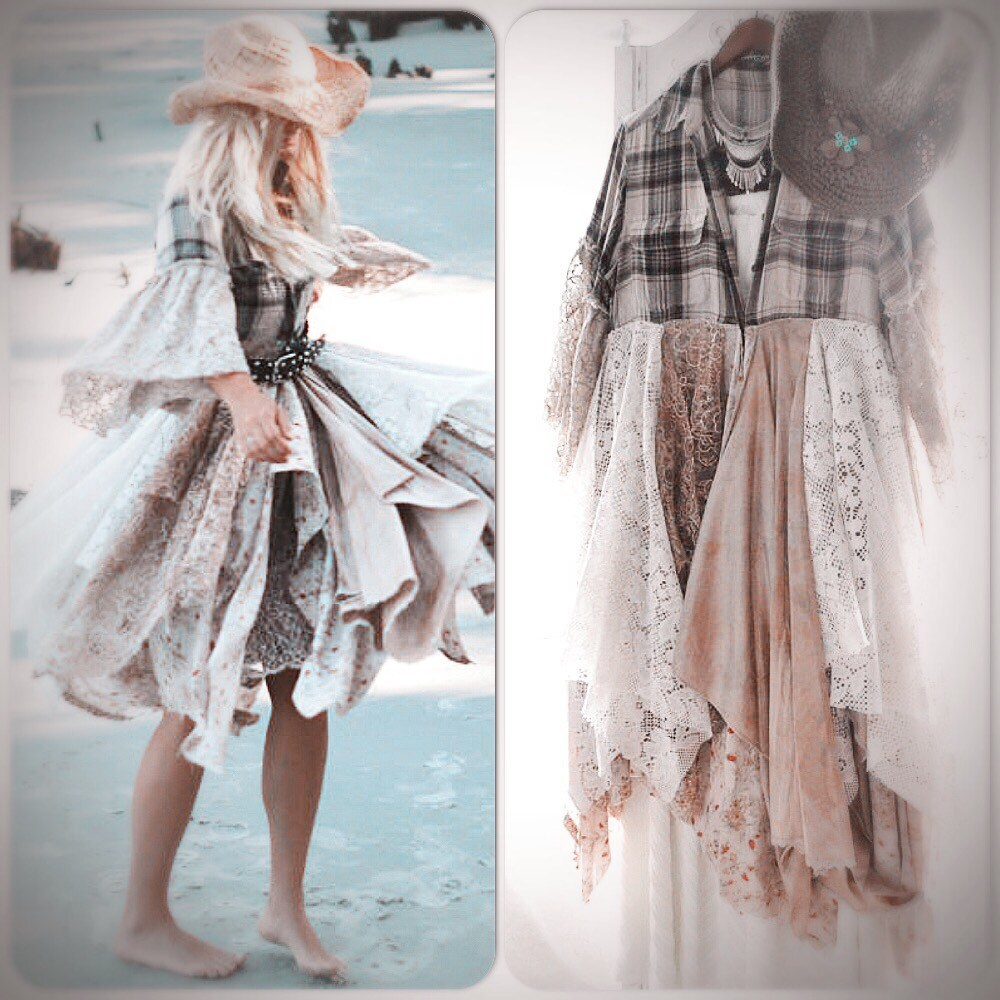 Cma french country chic duster romantic boho shabby cottage for Le style shabby chic