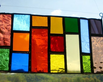 Rainbow Stained Glass Suncatcher