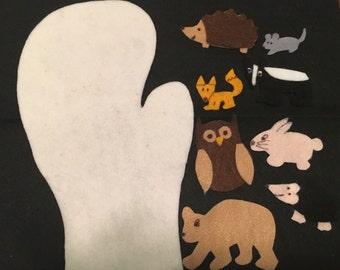 The Mitten Flannel Felt Story - Preschool