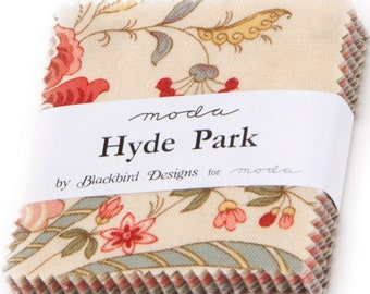 "Hyde Park Mini 2.5"" Charm Pack by Blackbird Designs for Moda Fabrics 2760MC 42 2.5"" Fabric Squares"