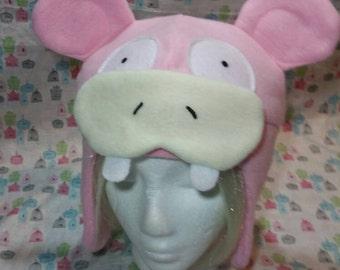 Slowpoke Pokemon Inspired Fleece Hat