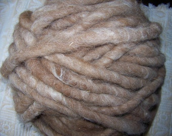 Camel Colored Rug or Jumbo Yarn    100% Alpaca plus Jute Core    35 oz