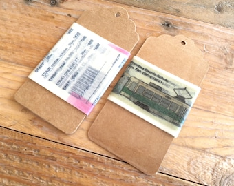 Limited Edition Japanese Washi Masking Tape Curated Tape Tags - Receipt and Electric Train / Electric Railway! Perfect for Tape Collector