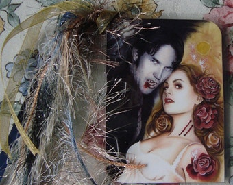 Sunlight on your skin - True Blood Traditional Art Watercolor Painting - Laminated bookmark with ribbons