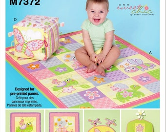 Big Block Toy Pattern, Baby Blanket Pattern, Hanging Diaper Stacker, Baby Quilt Wall Art Pattern, McCall's Sewing Pattern 7372