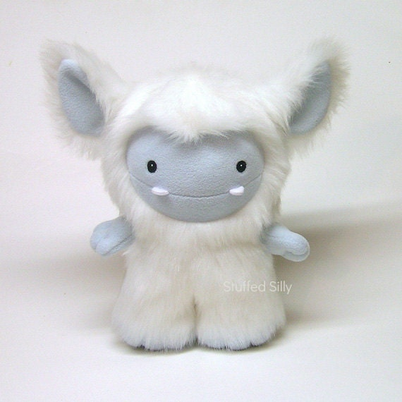 White Stuffed Toy, Cute Plush Monster Toy by Stuffed Silly - Frost Monster Series, New Edition : Willa