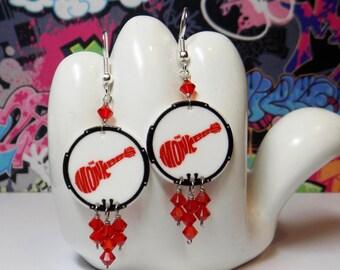 The Monkees Drum Head Dangle Earrings