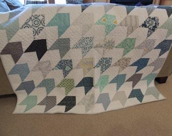 Modern quilt/Modern Arrow Pattern