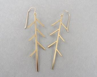 Tree earrings, tree jewelry, long earrings, dangle earrings