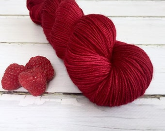 BFL Supersock British Bluefaced Leicester / Nylon sock yarn - Raspberry Beret