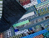 Origins Modern Geometrics Lap Quilt With Minkie Backing