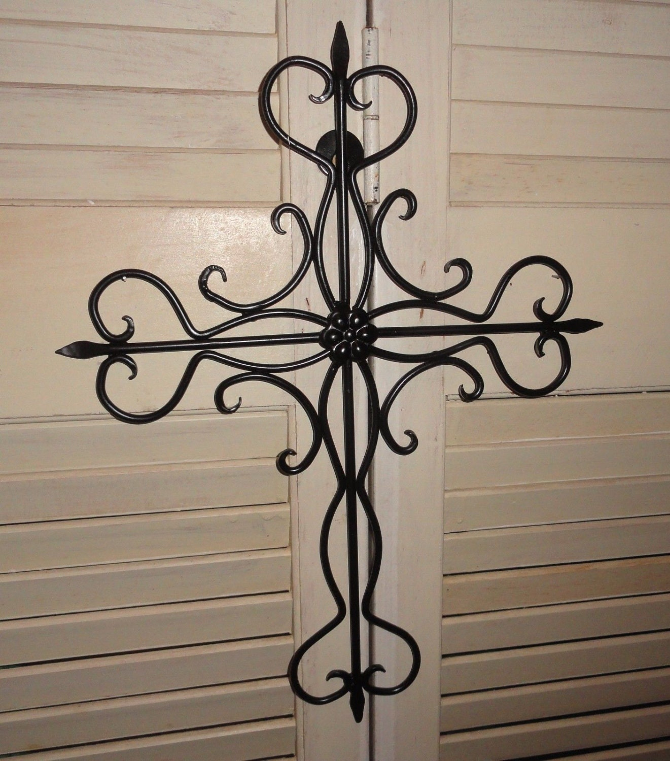 Cross iron cross religious cross home decor wall art Home decor wall crosses