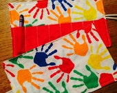 Spring sale sale sale Crayon Roll up Colorful hands