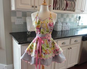 Pink Lemonade Retro Modern Apron - Sadie Style Women's Apron ~ 4RetroSisters