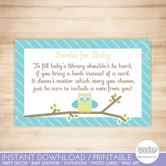 Owl baby shower book request cards owl baby boy shower invitation il570xn filmwisefo
