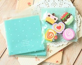 BLUE With A Smile cellophane cookie bags sweets bags