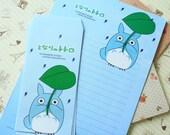 Blue Totoro cartoon writing paper & envelopes set Ver 02
