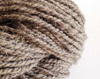 Handspun Yarn - Light Grey Herdwick Handspun Yarn - Undyed Handspun Yarn, Bulky Yarn, UK